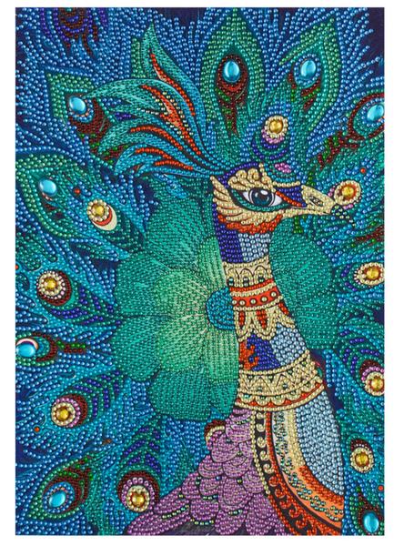 """9/16: Peacock (Partial) 9.5""""x11.5"""" (#1422)"""
