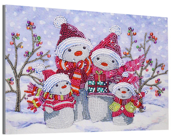 "Snowman Family (Partial) 9.5""x11.5"" (#139)"