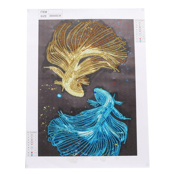 """9/16: Two Fish (Partial) 9.5""""x11.5"""" (#1089)"""