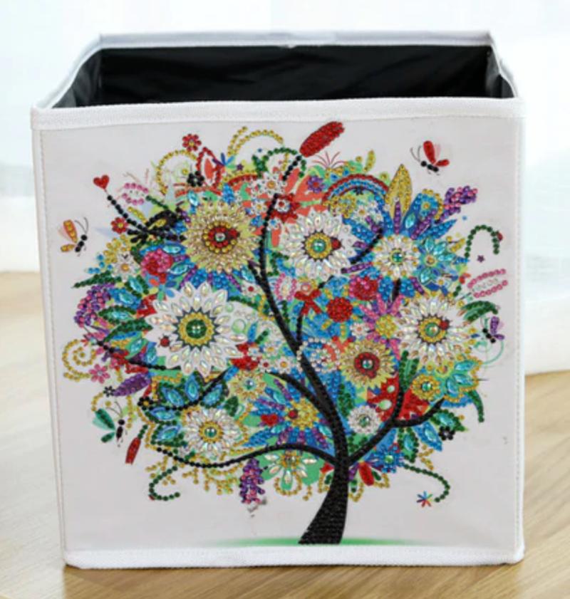 4/22: Colorful Tree Organizer Storage Container Box (#1352)