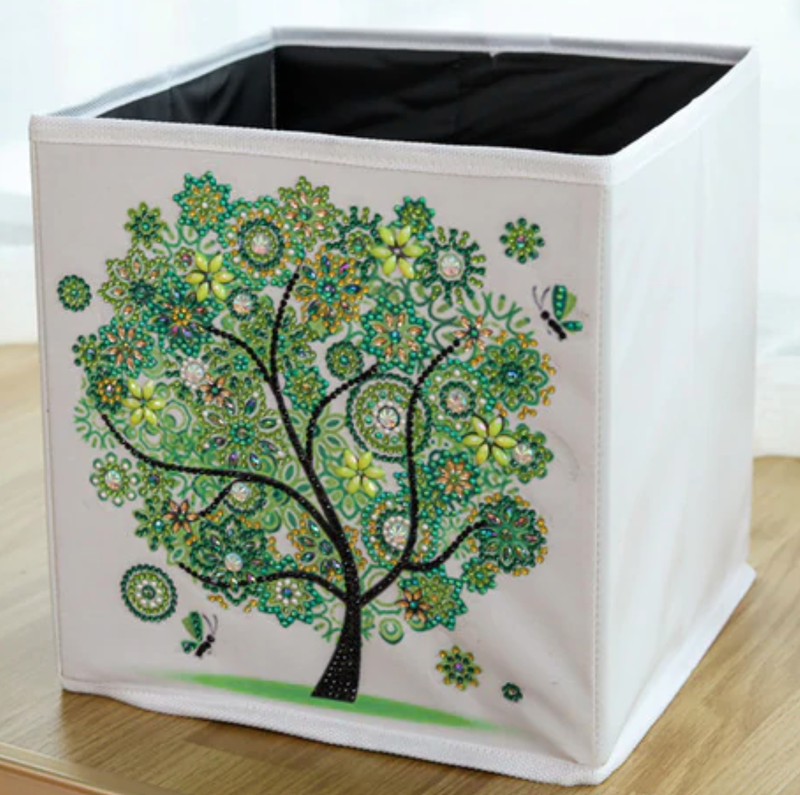 4/13: Organizer Storage Container Box - Green Tree (#1143)