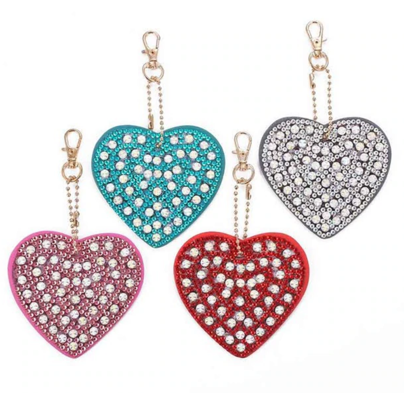 5/30: Heart Keychains - Set of 4 (#739)