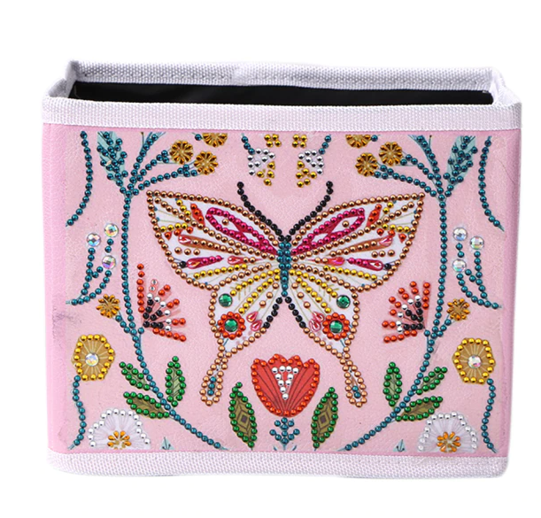 """7/27: Pretty Butterfly Storage Container Box  6.5""""x7.5""""(#766)"""