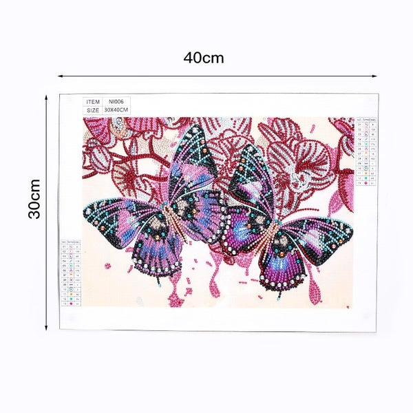 "9/14: Two Butterflies (Partial) 9.5""x11.5"" (#1436)"
