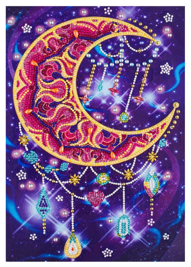"""9/16: Moon Dreamcatcher (Partial) 9.5""""x11.5"""" (#1557)"""