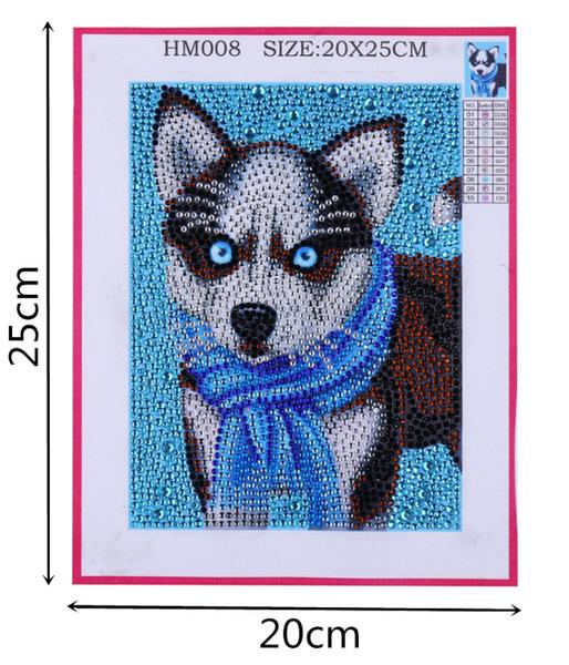 "9/16: Little Husky (Partial) 6""x8"" (#1720)"