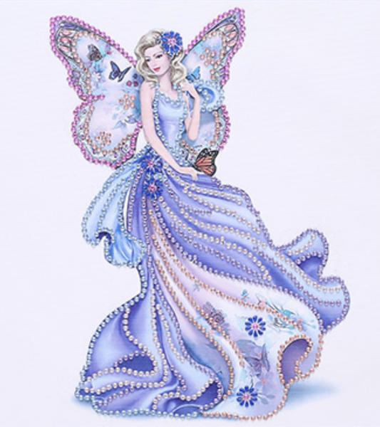 "9/7: Purple Angel (Partial) 9.5""x9.5"" (#1534)"
