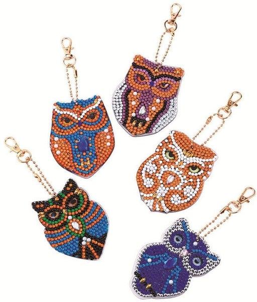 9/12: Owl Keychains - Set of 5  (#239)
