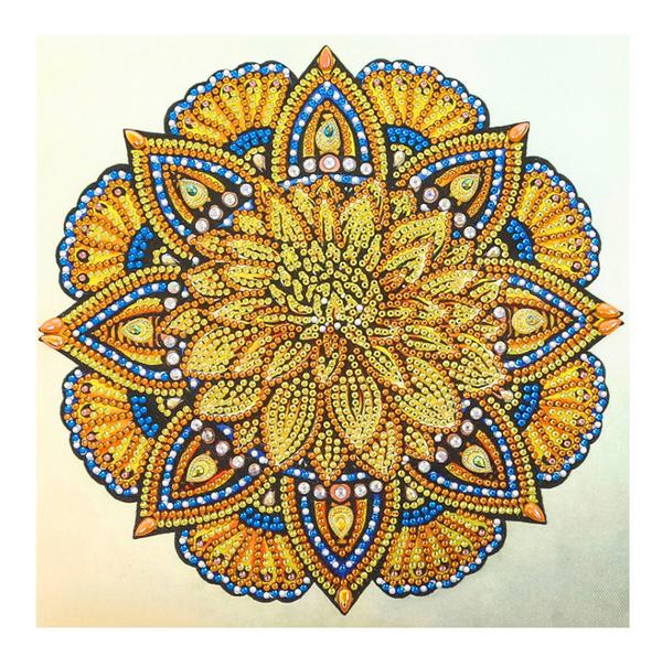"9/19: Yellow Mosaic (Partial) 9.5""x9.5"" (#1542)"