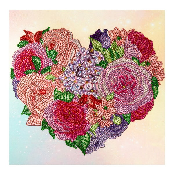 """9/23: Heart of Flowers (Partial) 9.5""""x9.5"""" (#1516)"""