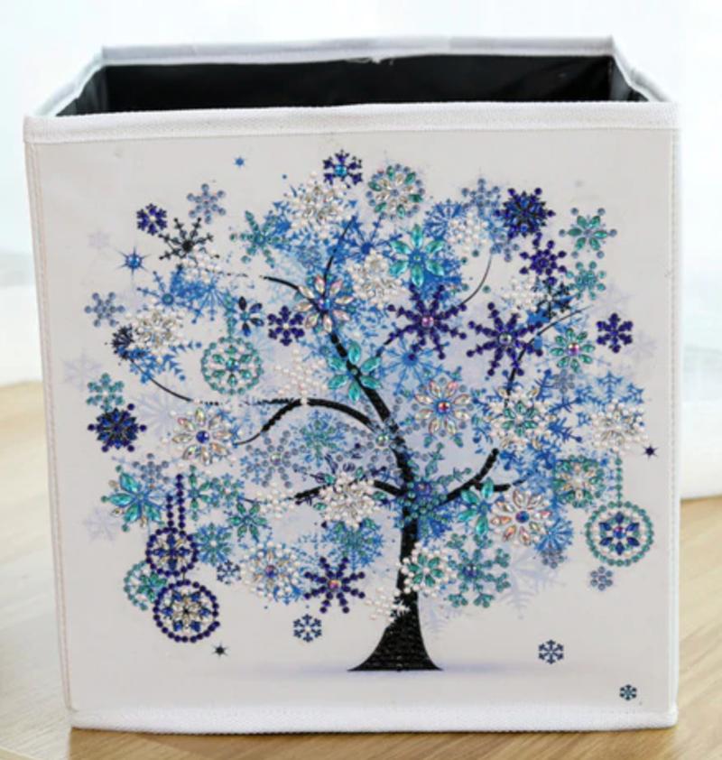 4/13: Organizer Storage Container Box - Blue Tree  (#1127)