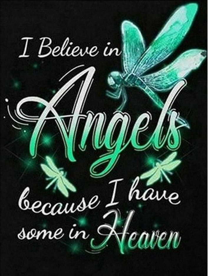 "8/7: Angels in Heaven (Full drill - round diamonds) 10""x14"" (#1053)"