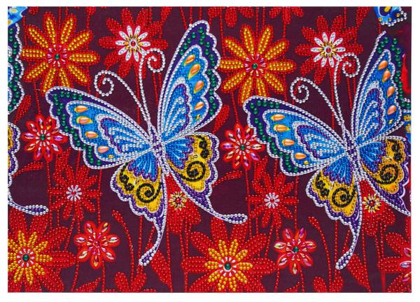 "Two Butterflies (Partial) 9.5""x11.5"" (#1575)"