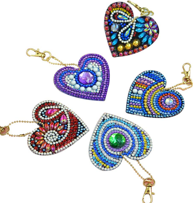 7/15: Heart Keychains - Set of 5 (#183)