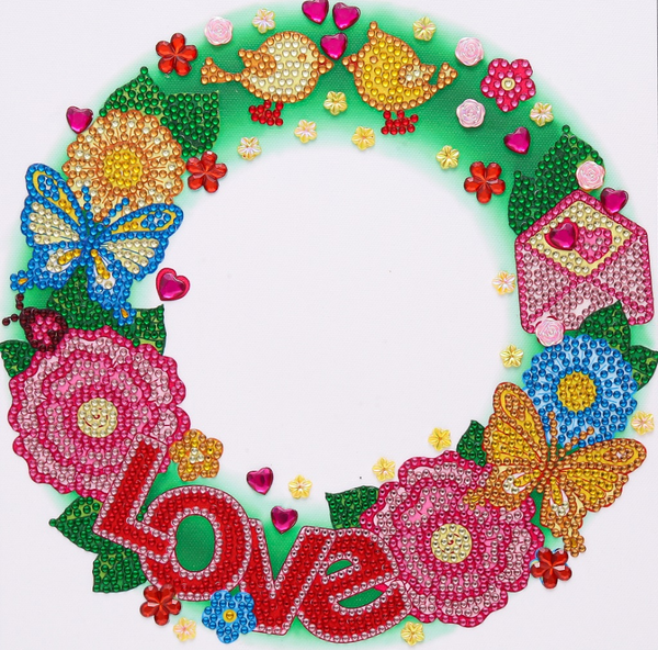 "9/23: Love Wreath Design (Partial) 9.5""x9.5"" (#1507)"