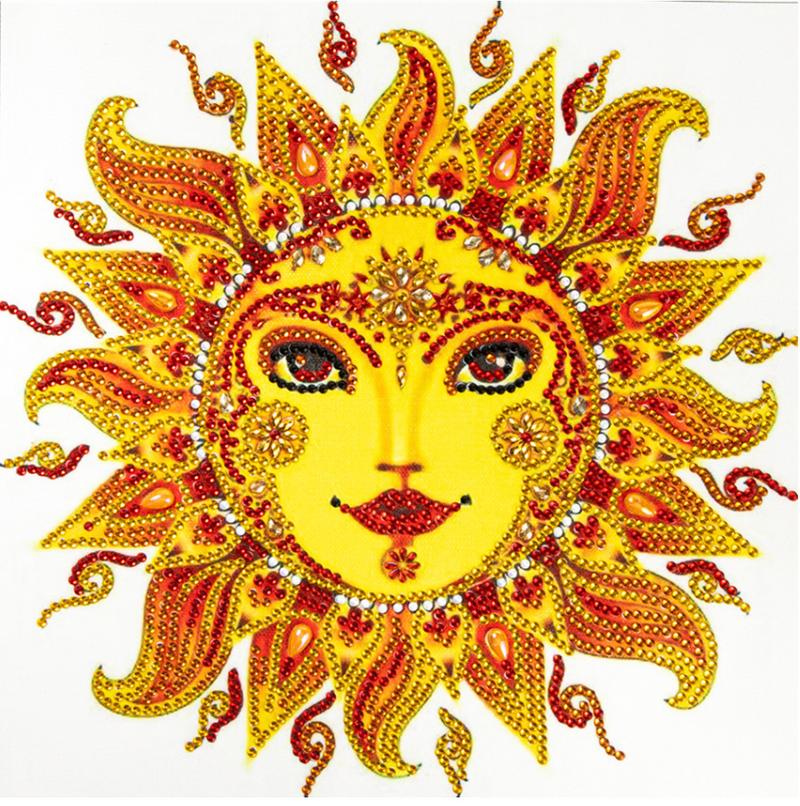 """Yellow Sun (Partial) 9.5""""x9.5"""" (#663)"""
