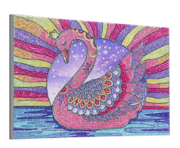 "9/16: Swan (Partial) 9.5""x11.5"" (#1694)"