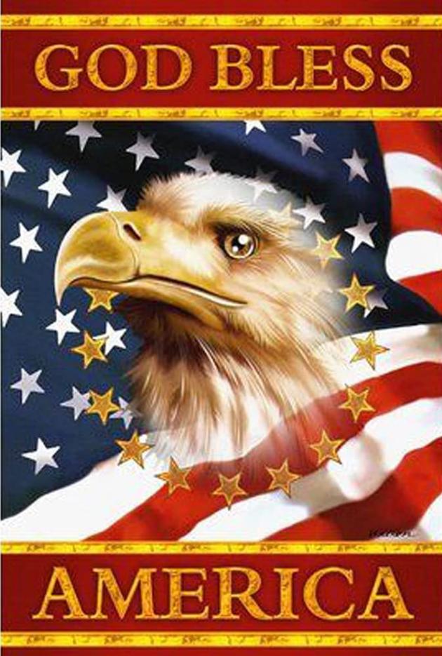 "9/2: God Bless America (Full drill - round diamonds) 10""x14"" (#186)"