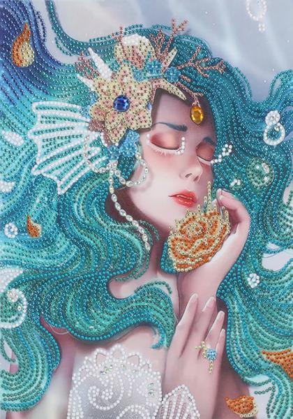 """Sleeping Mermaid (Partial) 9.5""""x11.5"""" (#177)"""