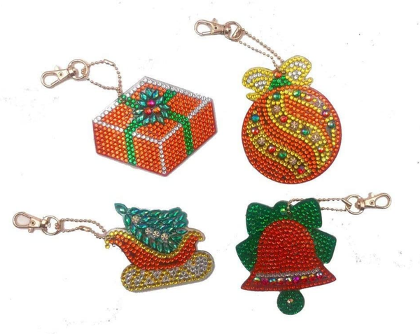 9/7: Christmas Keychains - Set of 4 (#280)