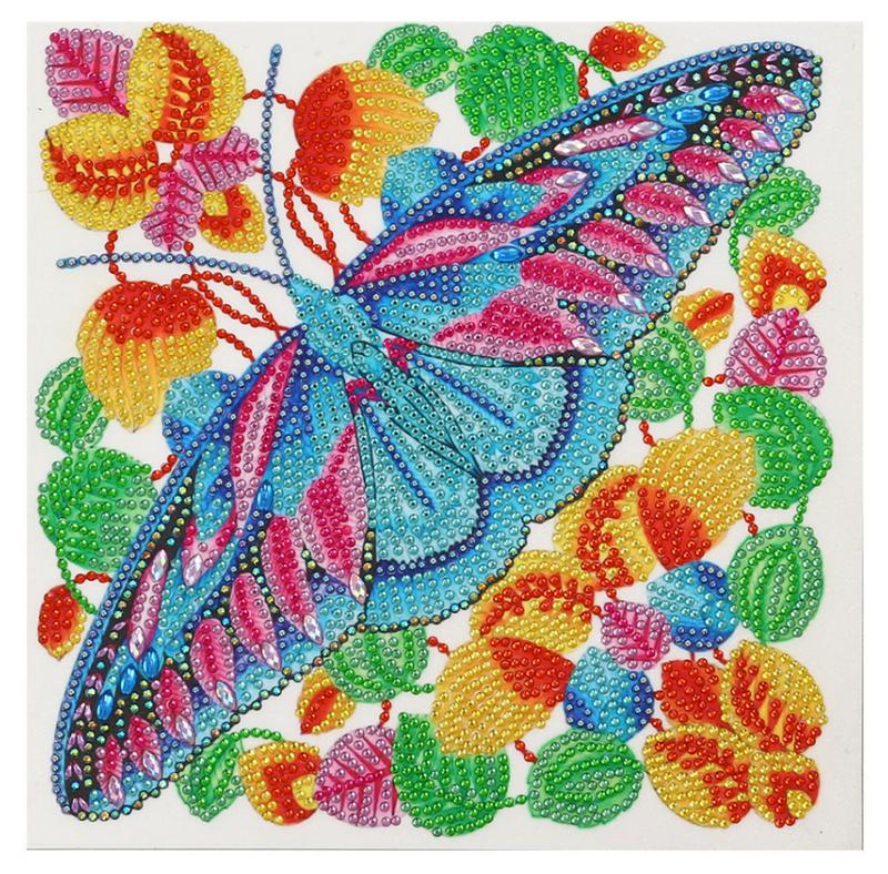 "9/14: Colorful Moth (Partial) 9.5""x9.5"" (#1535)"