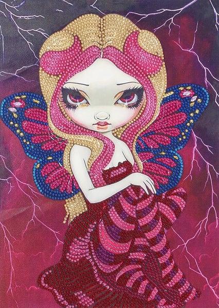 """9/23: Dark Pink Fairy (Partial) 9.5""""x11.5"""" (#389)"""
