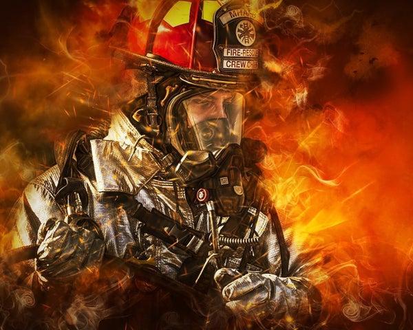 """6/5: Full drill - Square Diamonds - Fire Hero - 16""""x20"""" (GF-335)"""