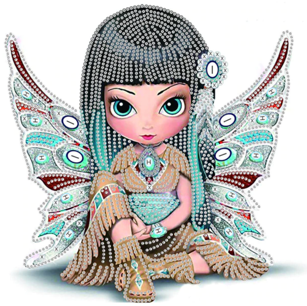 "7/29: Fairy (Partial) 9.5""x9.5"" (#1293)"