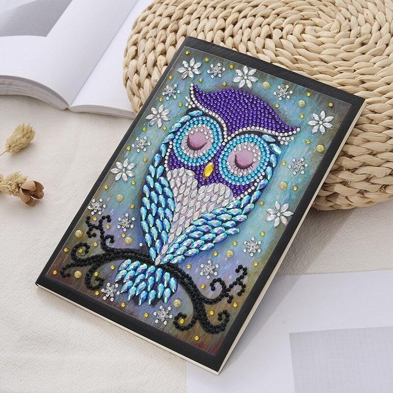 4/20: LINED Blue/Purple Owl Notebook (#770)