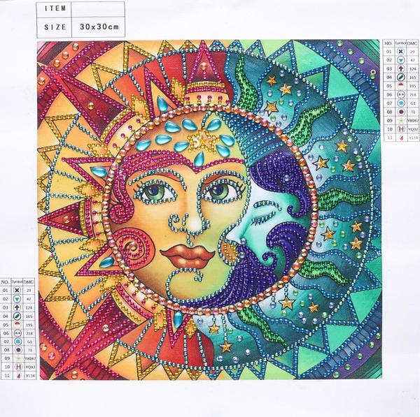 """$9.97: Sun/Moon (Partial) 9.5""""x9.5"""" (#600)"""