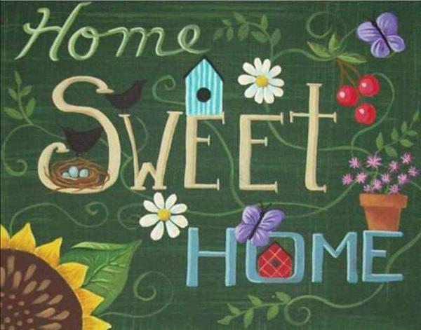 "8/26: Home Sweet Home (Full drill - round diamonds) 9.5""x13.5""(#892)"