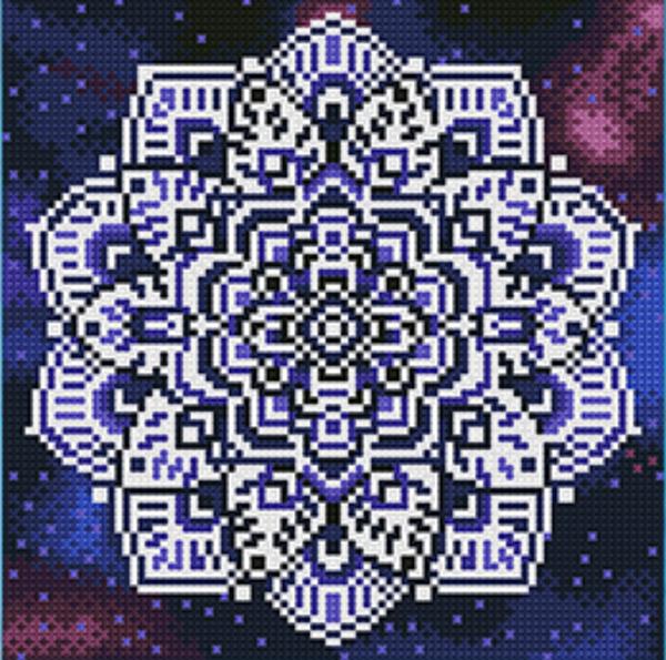 """9/7: Glow in Dark Mosaic #2 - (Full Drill - Round Diamonds) 9.5""""x9.5"""" (#680)"""