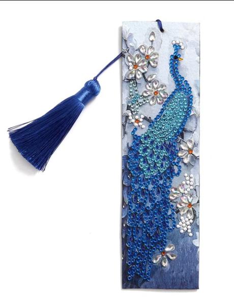 9/21: Blue Peacock Bookmark (#1220)