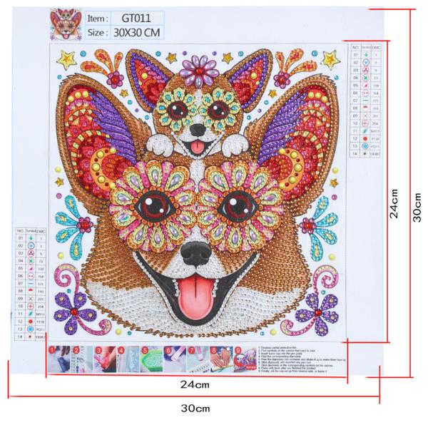 """9/9: Chihuahuas (Partial) 9.5""""x9.5"""" (#1713)"""