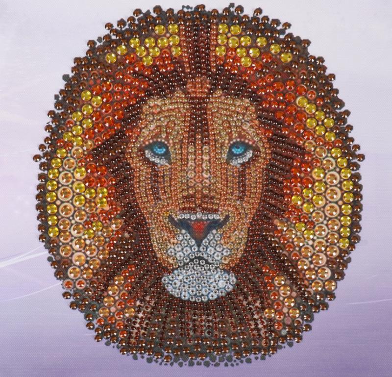 """Brown Lion (Partial) 9.5""""x9.5"""" (#Y)"""