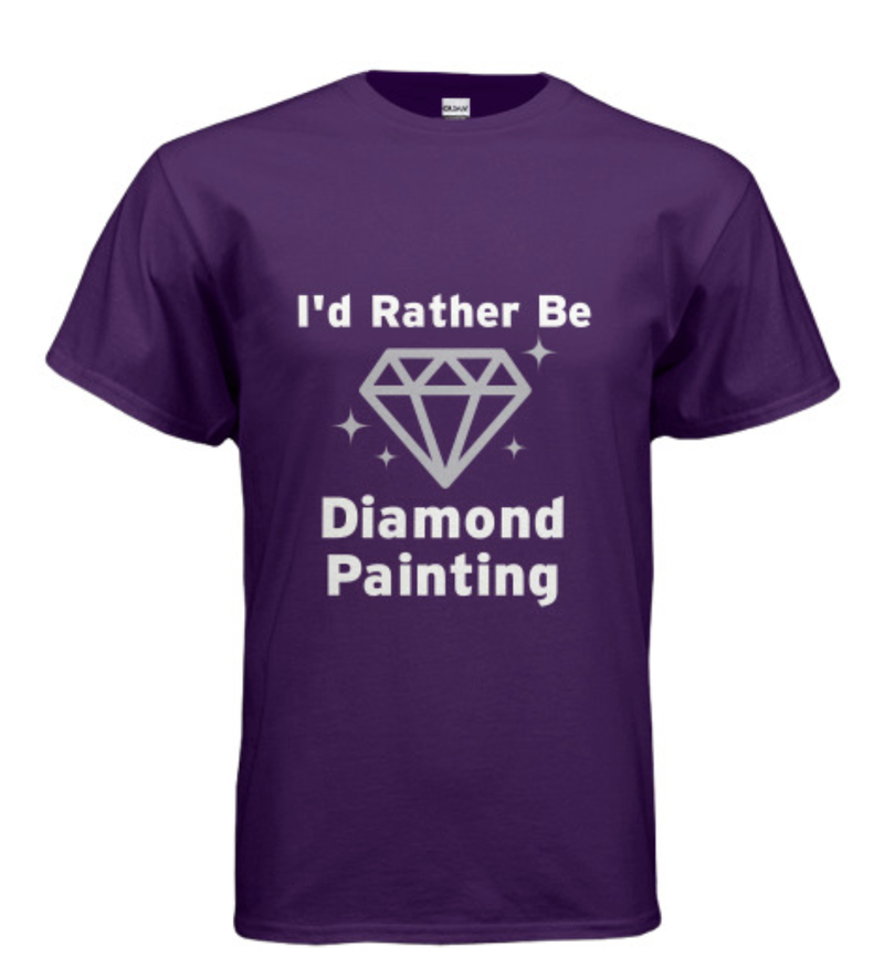 9/19: I'd Rather Be Diamond Painting Shirt - Choose Your Size