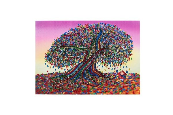 """9/9: Rhinestone Tree (Partial) 9.5""""x11.5"""" (#464)"""