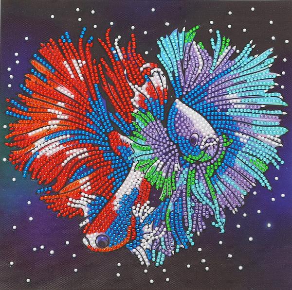 "9/11 8PM DEAL: Beta Fish Heart (Partial) 9.5""x9.5"" (#1668)"