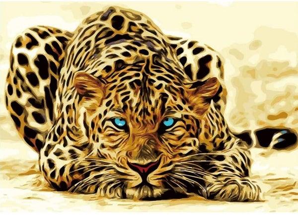 "9/4: Spotted Cat (Full drill - round diamonds) 12""x15"" (#1345)"