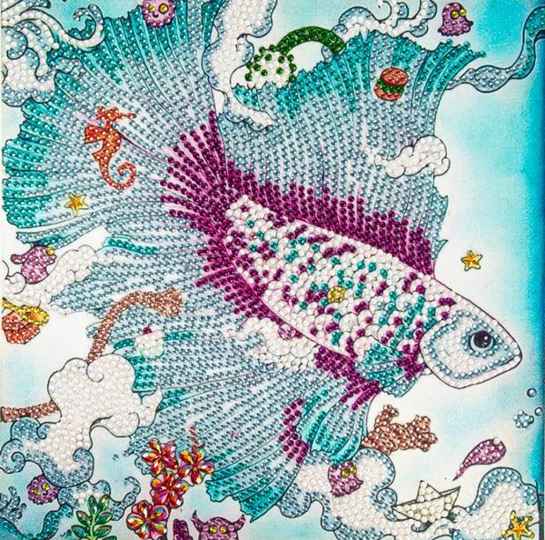 "Cool Fish (Partial) 9.5""x9.5"" (#604)"
