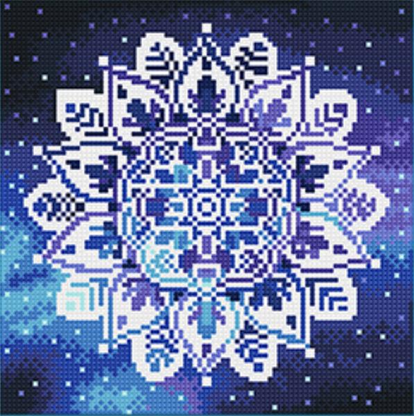 """9/19: Glow in Dark Mosaic - (Full Drill - Round Diamonds) 9.5""""x9.5"""" (#1119)"""