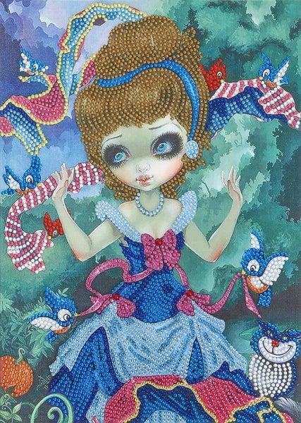 """9/21: Bird Fairy (Partial) 9.5""""x11.5"""" (#388)"""