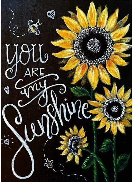 "4/24: You Are My Sunshine (Full drill - round diamonds) 10""x14"" (#58)"