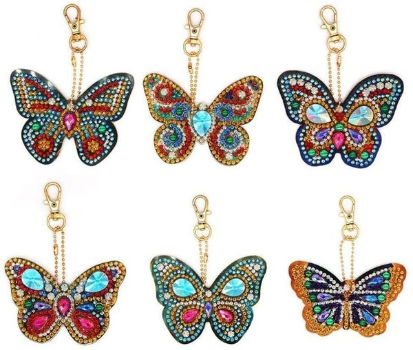 8/31: Butterfly Keychains - Set of 6 (#251)