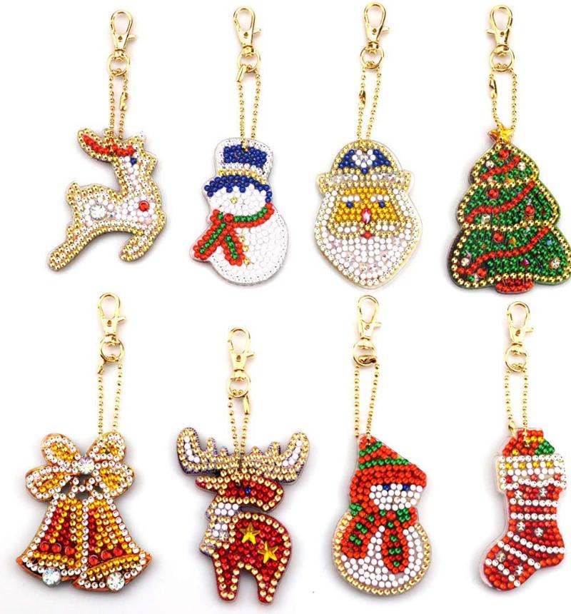 7/16: Christmas Keychains - Set of 8 (#236)