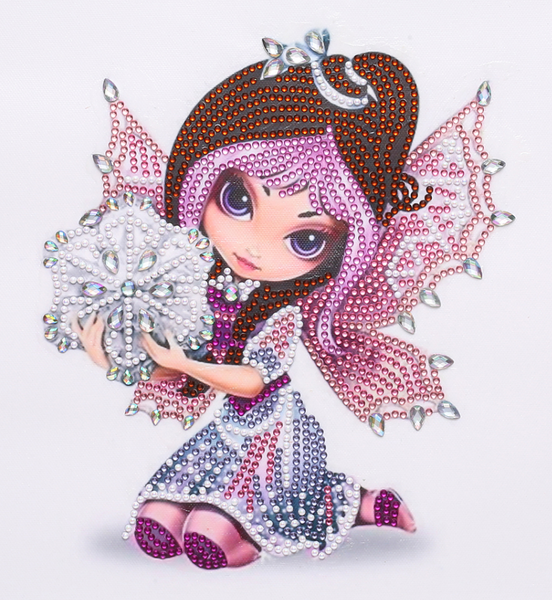 """9/19: Pink Fairy (Partial) 9.5""""x9.5"""" (#1653)"""