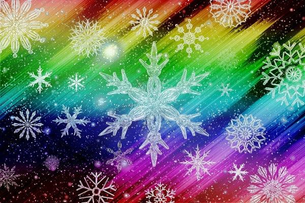 "Full drill - Square Diamonds - Rainbow Snow Art - 16""x20"" (GF-1678)"
