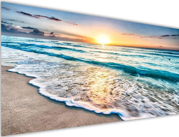 """7/31: Beach Waves (Full drill - round diamonds) 15""""x35"""" (#1214)"""