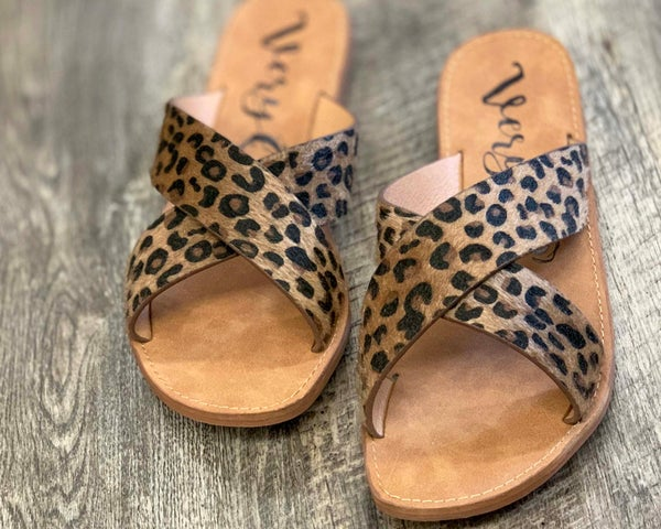 Very G Seaside Leopard Sandals For Women