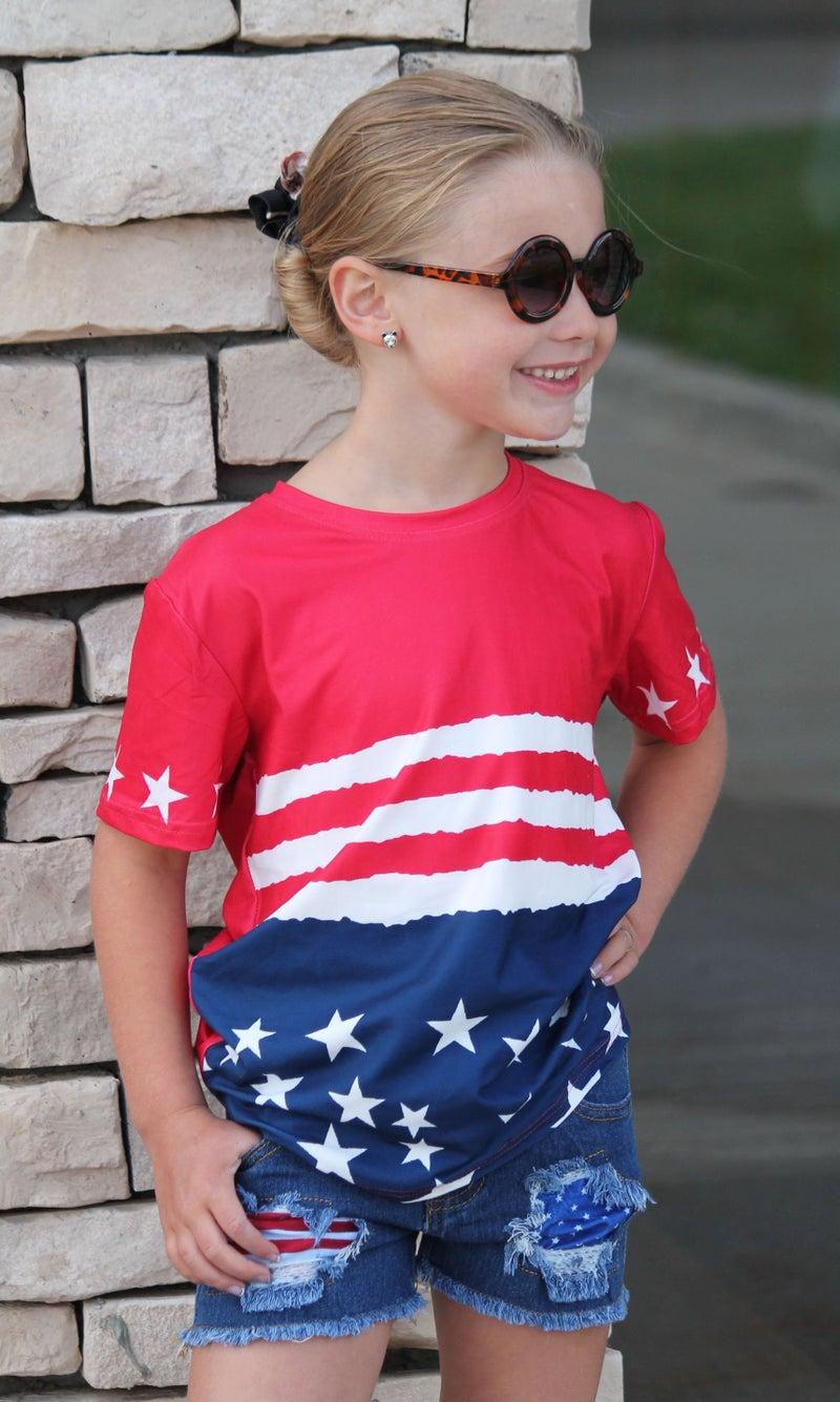 Stars & Stripes Tee For Kids *Final Sale*